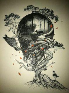 Tattoo inspiration... Skull Tree