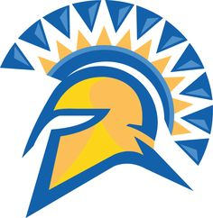 San Jose State Spartans Primary Logo (2006) - Blue and Yellow Spartan's helmet