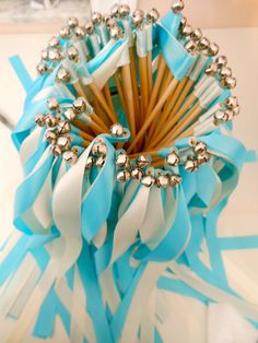 These wedding wands are a great alternative to rice, bubbles, or sparklers. Do people even do rice anymore? :)