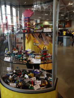 On display in the Construction Zone: the various creations made by showers!