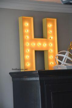 make-a-lighted-sign | theidearoom.net