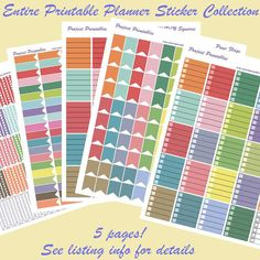Printable Planner Stickers PDF // Entire EC Color Scheme Collection // Perfect for Erin Condren Planners #eclp and plum paper planners