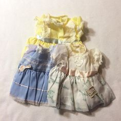3 New Vintage Baby Doll Dresses w/ Price Tags from