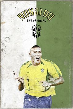 Ronaldo (Brazil) - One of Brazil's and Soccer's/Football's greatest players to ever play the game. God Of Football, Football Is Life, Retro Football, Football Art, World Football, Football Stadiums, Legends Football, Football Design, Vintage Football