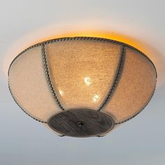 Barn Cloth Ceiling Light would be a great look for my house