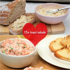 13 x toastsalade Love Food, A Food, Food And Drink, Vegetarian Recipes, Cooking Recipes, Go For It, Dutch Recipes, Sandwiches, Herb Butter