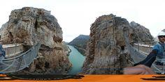 El tambaleante puente final del caminito del Rey en 360 grados #360 #Alturas #Guau +info:http://www.pacoyesther.com