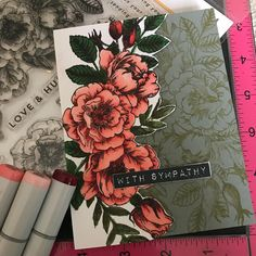 Simon Says Stamp Card kit, June 2018, sympathy card