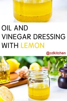 This is a great, light tasting salad dressing made with simple ingredients. You can easily adjust the flavors to taste. Oil And Vinegar Salad Dressing Recipe, Lemon Dressing Recipes, Lemon Salad Dressings, Lemon Recipes, Lemon Vinaigrette, Kale Recipes, Avocado Recipes, Olive Oil And Lemon Dressing, Olive Oil Dressing Salad
