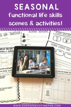 Seasonal Functional Life Skills Scenes and Activities: no prep and perfect for mixed speech groups