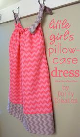 Dolly Creates: Little Girl's Pillowcase Dress