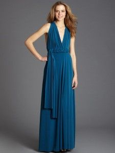 VON VONNI TRANSFORMER DRESS - TEAL, LONG aminamichele.com amina michele