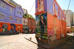 Street art à Valparaiso, Chili Latin America, South America, Street Art Graffiti, Central America, Murals, Chili, Trips, Mexico, Photograph