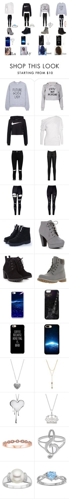 """4L"" by laura-la-licorne ❤ liked on Polyvore featuring NIKE, Tom Ford, Boohoo, WearAll, WithChic, Red Herring, Timberland, Silver Expressions by LArocks, Rebecca Minkoff and LUSASUL"