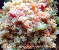 Clean Eating Lentil Quinoa Salad
