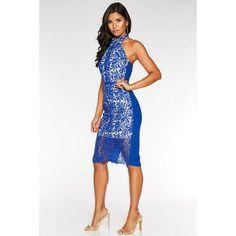 Wiggle Dress, Halter Neck, Party Dresses, Royal Blue, Bodycon Dress, Nude, Prom, Design, Women