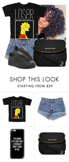 """""""looooserrr"""" by awesomeblossom23 ❤ liked on Polyvore featuring Casetify, MICHAEL Michael Kors and adidas"""