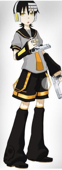 DEATH THE KID DRESSED UP AS LEN BECAUSE WHY NOT