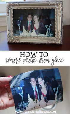 Photo stuck to the glass inside a frame? Easily remove it without damaging the photo or the glass with this simple trick. Deep Cleaning Tips, House Cleaning Tips, Cleaning Hacks, Organizing Tips, Organization, Glass Picture Frames, Picture Of A Picture, Photo Restoration, Cleaning Painted Walls