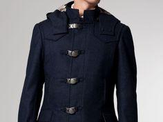 The Mack Blue Melange Toggle Coat   Indochino