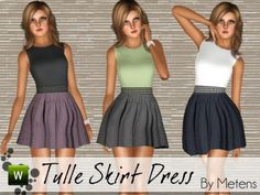 Sims 3 Finds - Tulle Skirt Dress by Metens at The Sims Resource