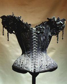 Black antique corset. So many paper possibilities!