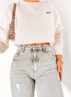 Casual School Outfits, Trendy Summer Outfits, Cute Comfy Outfits, Teen Fashion Outfits, Retro Outfits, Look Fashion, Stylish Outfits, Teen Winter Outfits, Grunge Outfits