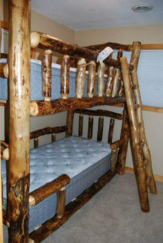 Amish-made custom Aspen Bunk Beds