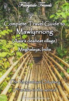 Asia's cleanest village - Mawlynnong is in Meghalaya, India. It is a small beautiful place with lovely culture. Learn more about Mawlynnong and plan a trip using this travel guide. #mawlynnong #meghalaya #india #indiatravel #travelblog #meghalayaodyssey #northeastindia #travelguide #cleanestvillage