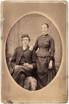 vintage portrait of victorian couple, great-great-grandparents by deflam, via Flickr