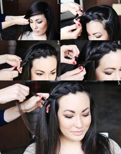 How to Style a Side Braid: Two Ways! – Sharee Williams How to Style a Side Braid: Two Ways! How-to Side Braid Braided Hairstyles Tutorials, Pretty Hairstyles, Girl Hairstyles, Braid Hairstyles, Wedding Hairstyles, Braid Tutorials, Style Hairstyle, Braided Front Hairstyles, Church Hairstyles