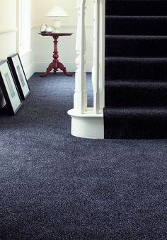 Nice deep pile dark blue / grey carpet