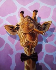 The Street Gallery touts an impressive and eclectic collection of contemporary fine art featuring award-winning and emerging Utah artists. Giraffe Painting, Giraffe Art, Painting Art, Giraffe Pictures, Art Pictures, Photos, Animals And Pets, Cute Animals
