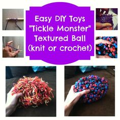Knit or crochet your own sensory fidgets Diy Sensory Toys, Sensory Bins, Sensory Activities, Infant Activities, Diy Toys, Spring Activities, Teaching Activities, Sensory Therapy, Adhd And Autism