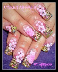 I love the pink and leopard nails
