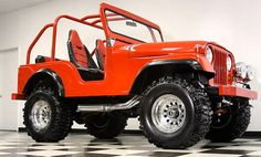 1953 Willy's Jeep. This Is my exact jeep! It's even orange!! <3