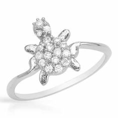 Ring With Cubic    Zirconia - Size 6.5    Dazzling ring with cubic zirconia crafted in 925 sterling silver. Total item weight 1.5g. Size 6.5. Gemstone info: 17 cubic zirconia, 0.85ctw., with round shape and white colo