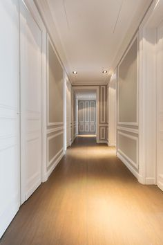 d gagement vers les chambres appartement haussmannien paris 16 em pinterest couloir. Black Bedroom Furniture Sets. Home Design Ideas