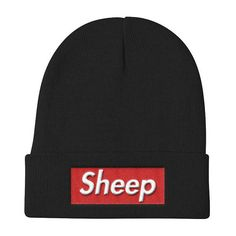 Sheep Supreme Parody Box Logo Idubbbz Inspired Beanie Box Logo 2d30f1e91f87