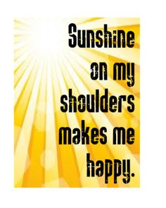 Sunshine on my shoulders makes me happy | It's always happy at Fidelity National Title Company (Colorado)