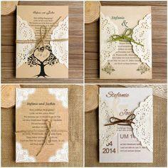 DIY Spitze rustikal Einladungskarten Hochzeit 2014 bei optimalkarten DIY Ideen für Rustikale Hochzeit   Einladungskarten, Hochzeitsdekoration