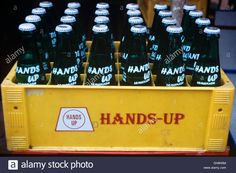 Crate Full Of Bottles Of Local Soft Drink Hands Up India Stock Photo, Royalty Free Image: 62228592 - Alamy