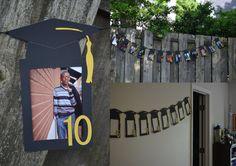 Bandera fiesta de graduación - envío - graduación foto Banner Kit - graduación Banner gratis-