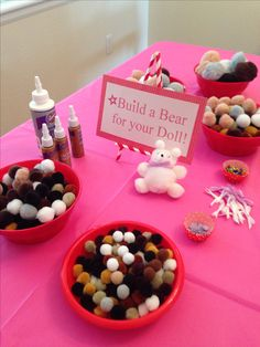 American girl doll party craft station