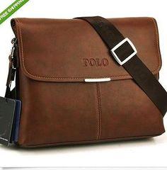 Polo, leather men bag fashion men messenger bag bussiness bag