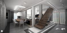 nowoczesny projekt schodów w salonie - zdjęcie od ArtCore Design - Schody - Styl Nowoczesny - ArtCore Design