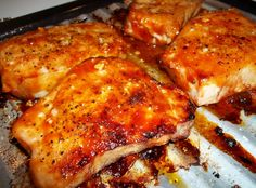 Honey Garlic Boneless Chops - Delicious! BLUE RIBBON WINNER...pj