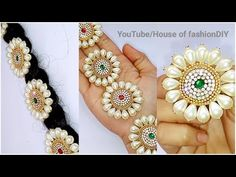 How To Make Bridal Hair Accessories Using Pearls//Jada Billalu At Home..! - YouTube