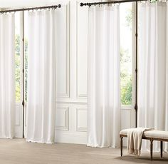 1000 Images About Draperies On Pinterest White Linen Curtains Open Weave And Stripes