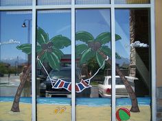 Spring Window Painting With Students